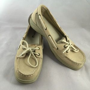 "Sperry NEW ""Laguna"" leather top-siders, size 5"